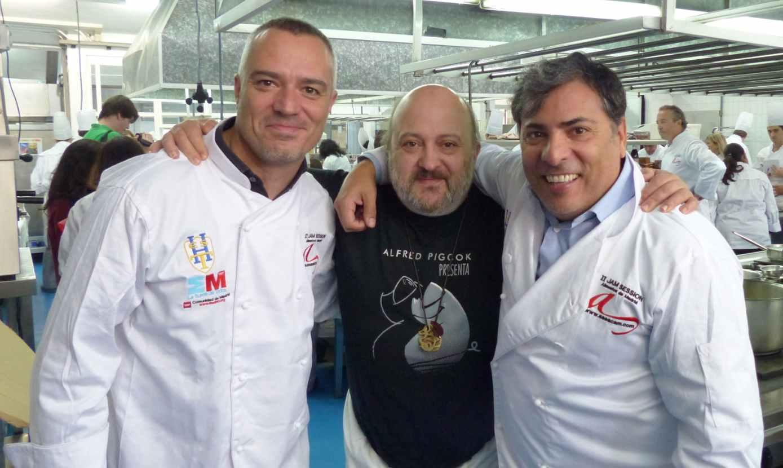 Con Juan Pozuelo y Sacha Hormaechea...