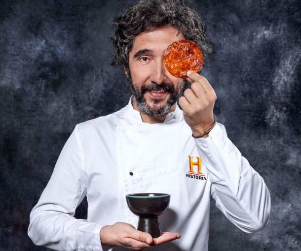"""El chef Diego Guerrero reinterpreta """"La última cena"""" en Canal Historia..."""