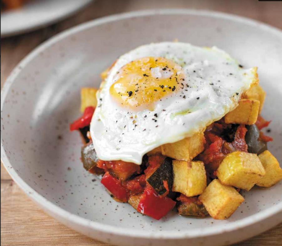 chicote plato huevo
